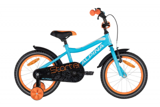 "bicykel Alpina STARTER blue orange 16""  2020"
